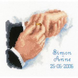 Vervaco Counted Cross Stitch Kit - With This Ring