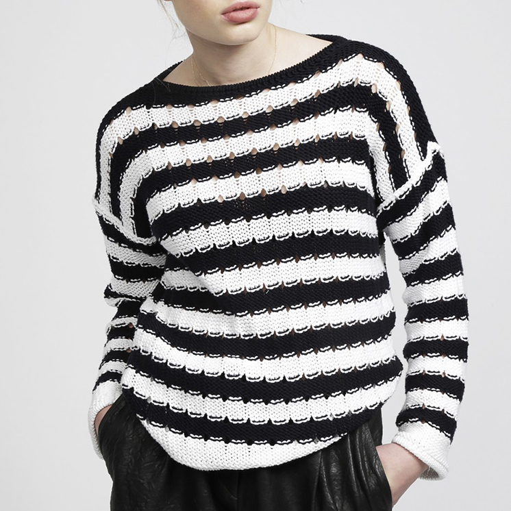 58d31d0f55182 Nova Sweater Pattern in Wool and the Gang® Shiny Happy Cotton at ...