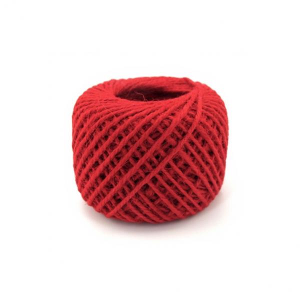 wone Jute Yarn - Red